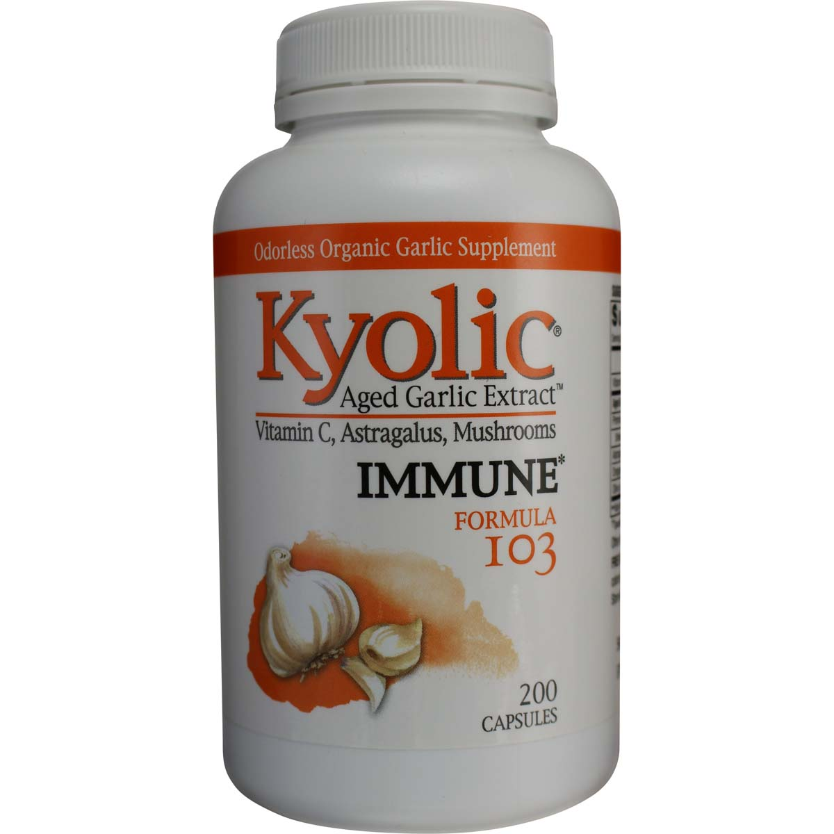 Garlic Kyolic 174 Aged Garlic Extract Vitamin C Astragalus