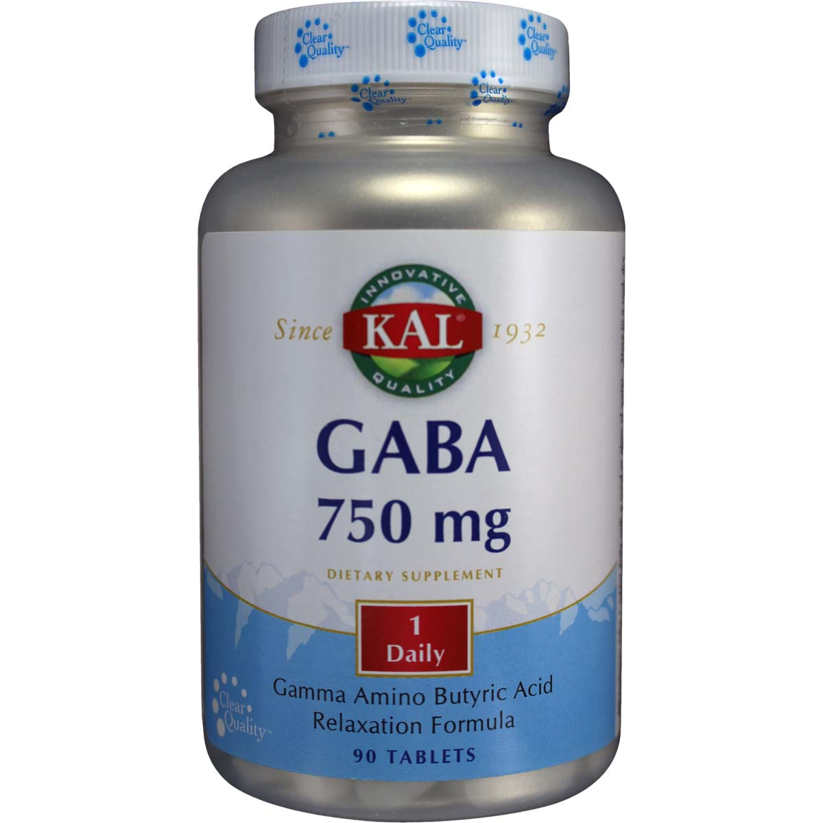 Gaba 750 Mg Gamma Amino Butyric Acid Qty 90 Tablets