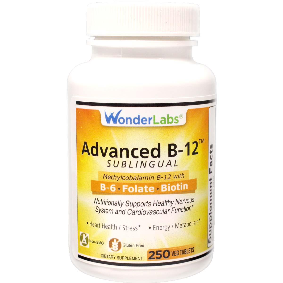 Advanced Vitamin B-12 Sublingual | B-6 - Folic Acid - Biotin