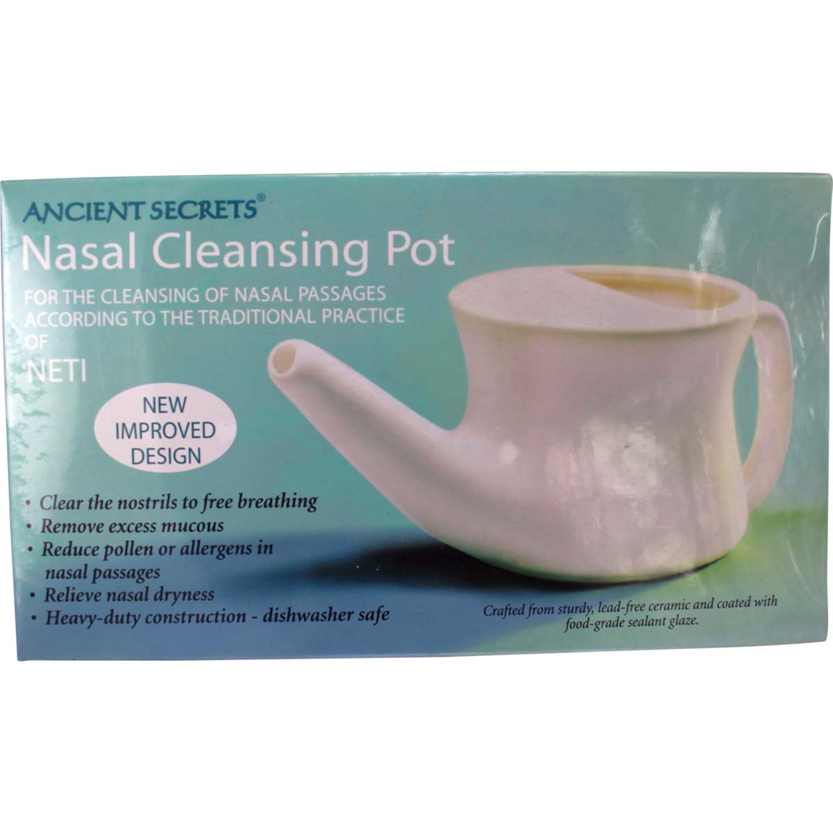 Neti Pot Nasal Cleansing Pot By Ancient Secrets Qty 1
