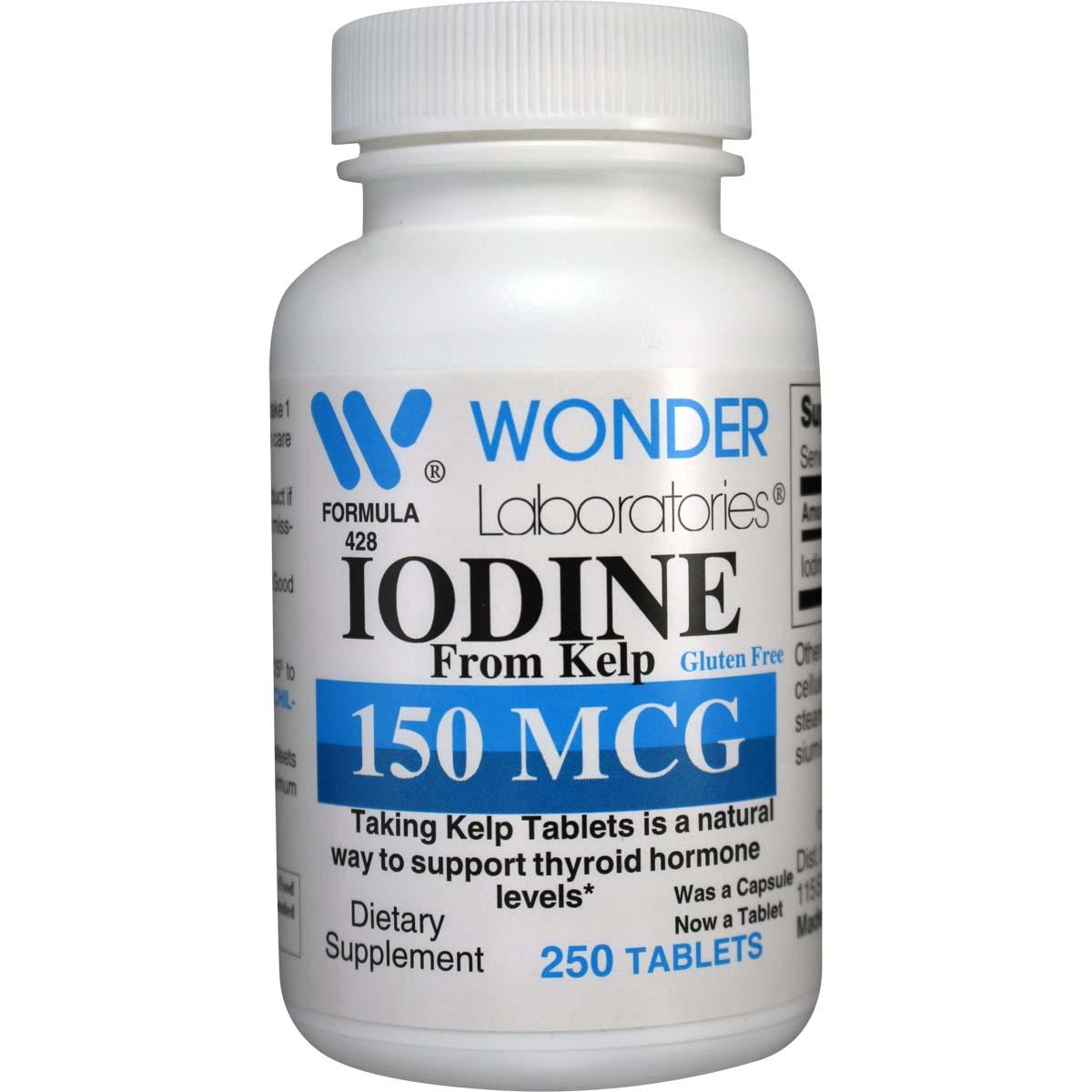 Iodine From Kelp 150 Mcg 250 Tablets Item 4282