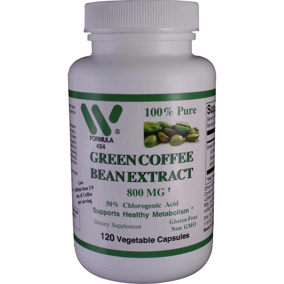 Green Coffee Bean Extract 800 Mg Qty 120 Veg Capsules Item