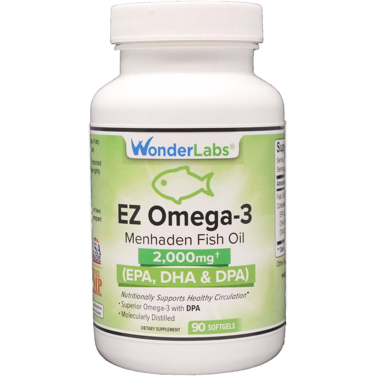 Ez omega 3 2000 mg dpa epa dha 90 softgels item 5321 for Menhaden fish meal