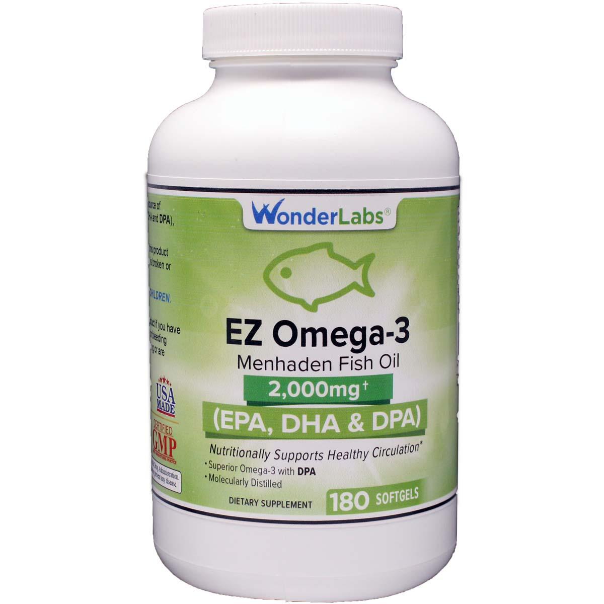 Menhaden Fish Oil Omega-3 2000 Mg |  Dpa + Epa + Dha