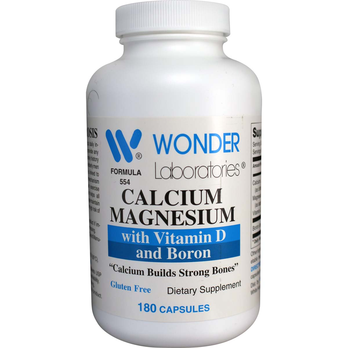 calcium magnesium with vitamin d and boron 180 capsules item 5541. Black Bedroom Furniture Sets. Home Design Ideas