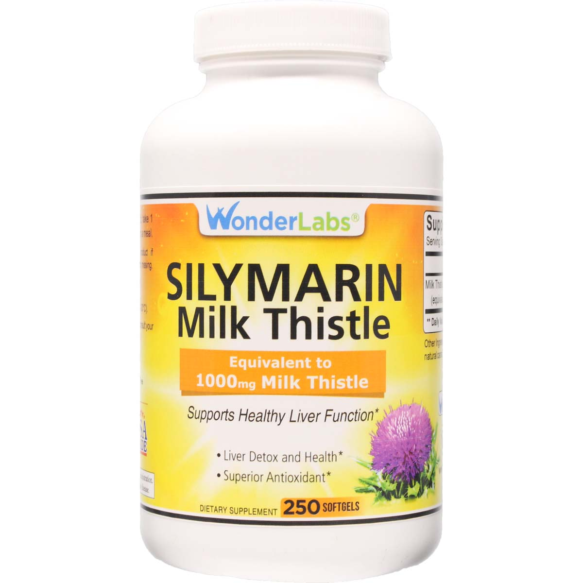 Silymarin Milk Thistle | Equivalent to 1000 mg Milk Thistle