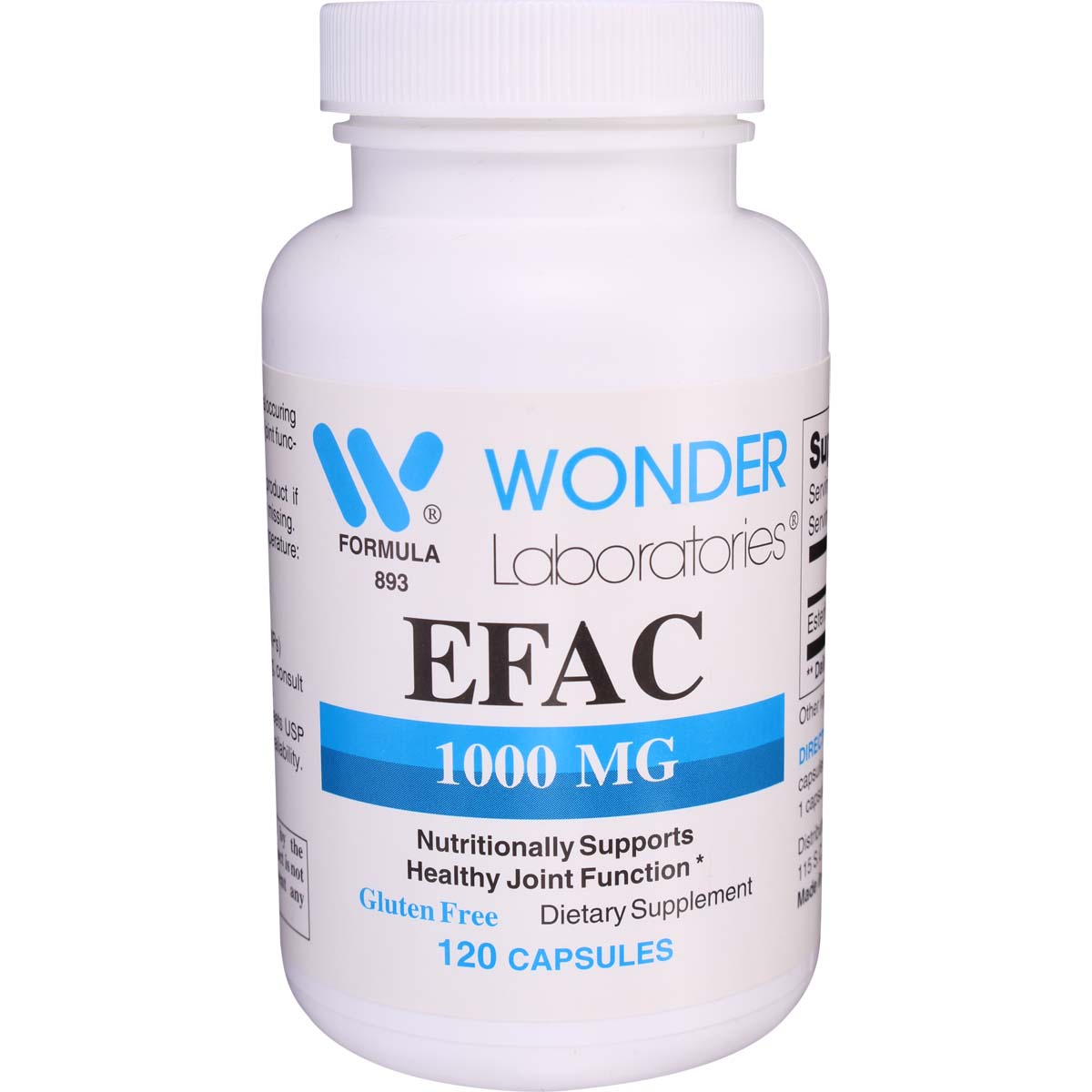 EFAC Joint Supplement Caps for Human Use Only 90 Count Arthritis Joint Pain