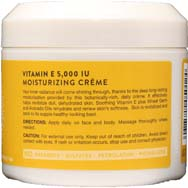 Vitamin E Creme 5,000 IU Pure, Natural and Organic