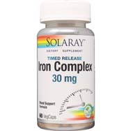 Iron 30 mg | Two-Stage, Timed Release Super Bio-Plex
