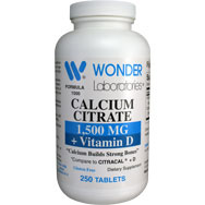Calcium Citrate 1500 mg + Vitamin D