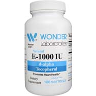 Natural E-1000 IU | d-alpha Tocopherol