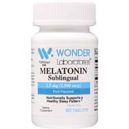 Melatonin 2.5 mg Sublingual Tablets Fruit Flavored
