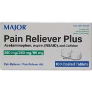 Pain Reliever Plus | Acetaminophen, Aspirin and Caffeine