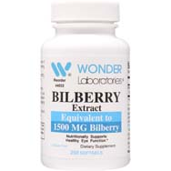 Bilberry Extract - Equivalent to 1500 mg Bilberry