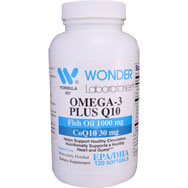 Omega-3 Plus Q10 | Fish Oil 1000 mg & CoQ10 30 mg