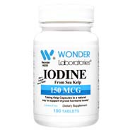 Iodine from Kelp 150 mcg