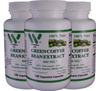 Green Coffee Bean Extract 800mg (FREE Shipping* + Ketones)