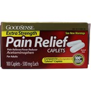 Extra Strength Pain Relief Acetominophen 500 mg