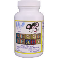 Benny Bears Fruit Flavored Chewable Multi-Vitamin & Mineral
