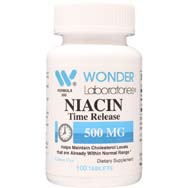 Niacin 500 mg Time Release<BR>Coated Tablets
