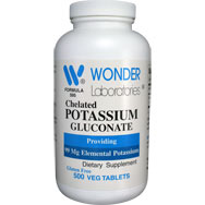Chelated Potassium Gluconate - 99 mg of Elemental Potassium