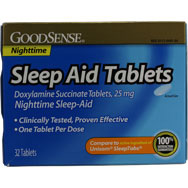 Sleep Aid Tablets - Doxylamine Succinate Tablets 25mg