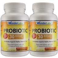 Probiotic | 30 Billion Good Bacteria (2 Bottle Pack)
