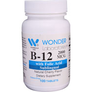 Sublingual B12 and Folic Acid