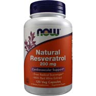 Resveratrol Natural Mega Potency 200 Milligrams with Red Wine Extract