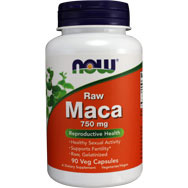 Raw Maca 750 mg - Reproductive Health by Now Brands