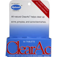 ClearAc Tablets - Use for Acne, Pimples and Acne Blemishes