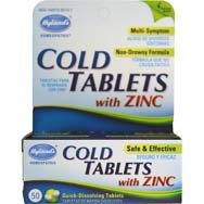 Cold Tablets With ZINC