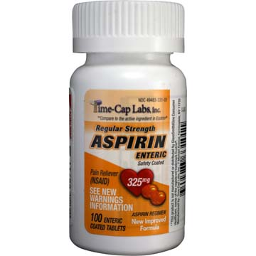 Regular Strength Aspirin 325 mg | Enteric Safety Coated