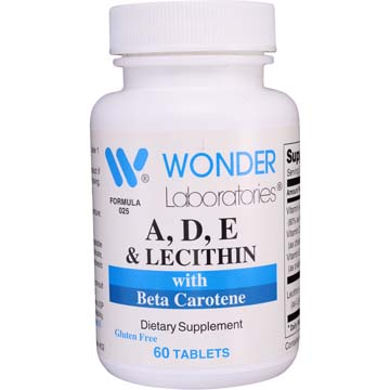 Vitamins A, D, E with Lecithin & Beta Carotene