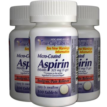 Micro-Coated Aspirin 325 mg - Analgesic Pain Relief (3-Pack)