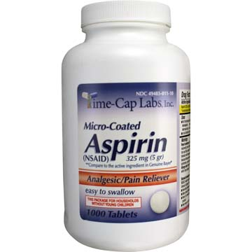 Aspirin 325 mg - Micro-Coated Analgesic Pain Relief (1000ct)