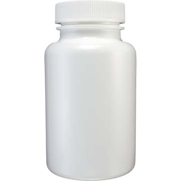 Empty Bottles | HDPE Bottles | White Plastic 3oz Size | 12ct