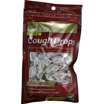 Soothing Cough Drops - Cherry Flavor (3 Bags of 30)