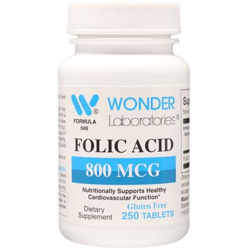 Folic Acid 800 mcg | Support Healthy Cardiovascular Function