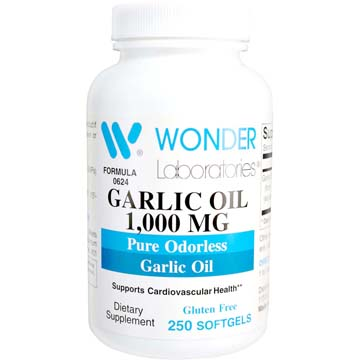 Garlic Oil 1000 mg | Pure Odorless Garlic Oil