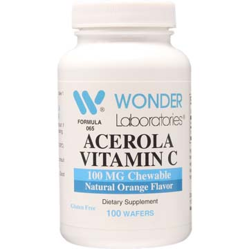 Acerola Vitamin C | 100 mg Chewable - Natural Orange Flavor