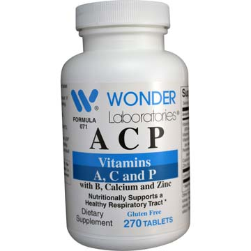 A C P | Vitamins A,C, and P w/ B, Calcium and Zinc