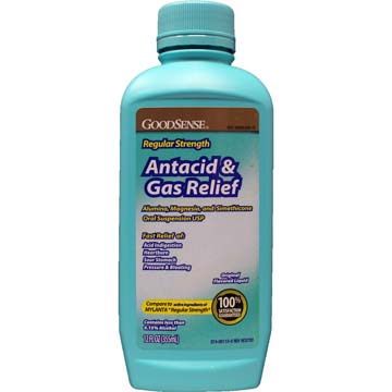 Mylanta ® Comparable Fast Acting Liquid Antacid Regular Strength Plus Anti-Gas with Simethicone