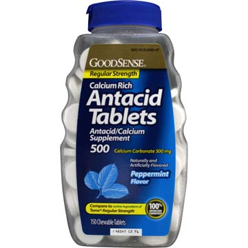 Calcium Rich Antacid Tablets - Regular Strength