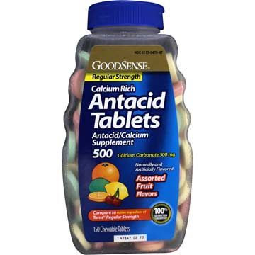 Antacid Tablets - Regular Strength - Assorted Fruit Flavor