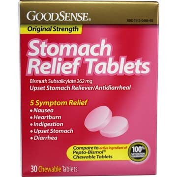 Stomach Relief Tablets - Compare to Pepto-Bismol®