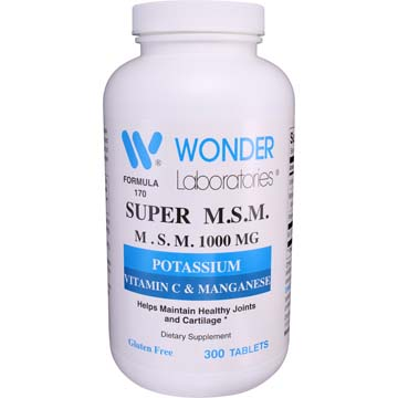 Super M.S.M. 1000 mg | Potassium, Vitamin C & Manganese