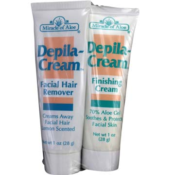 Depila-Cream Facial Hair Remover and Finishing Cream Tubes