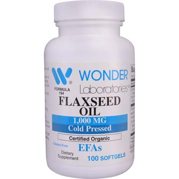 Flaxseed Oil 1000 mg | Cold Pressed | Certified Organic