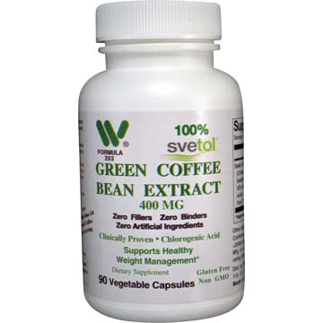 Svetol Green Coffee Bean 400 Mg Qty 90 Veg Caps Item 2031 Wonderlabs Vitamins Minerals And Supplements